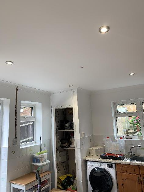 Down lights installed into this customers kitchen